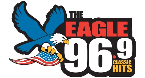 96.9 The Eagle - Jacksonville's Classic Hits From The 70's, 80's & More Logo