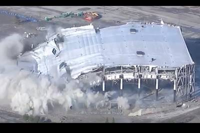 Watch Implosion of Detroit's Palace of Auburn Hills Concert Venue