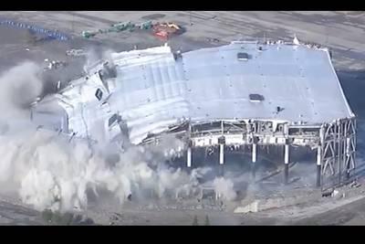 Watch Implosion of Detroit's Palace of Auburn Hills Concert Venue